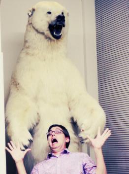 matt with polar bear