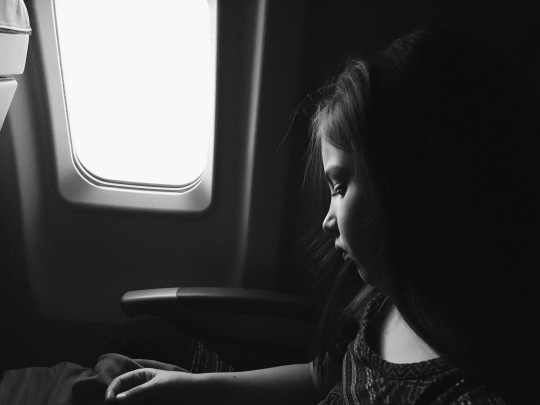 My beautiful girl on the plane